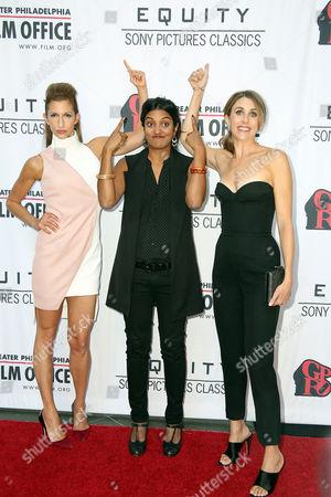 Alysia Reiner, Meera Menon and Sarah Megan Thomas