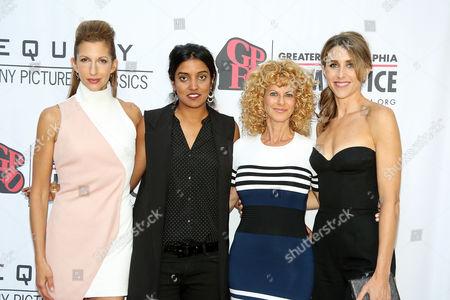 Alysia Reiner, Meera Menon, Sarah Megan Thomas and Sharon Pinken