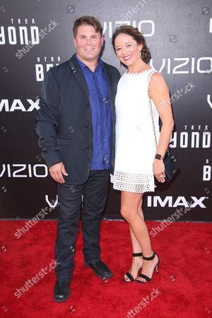 Eugene Wesley Roddenberry Jr and wife Heidi
