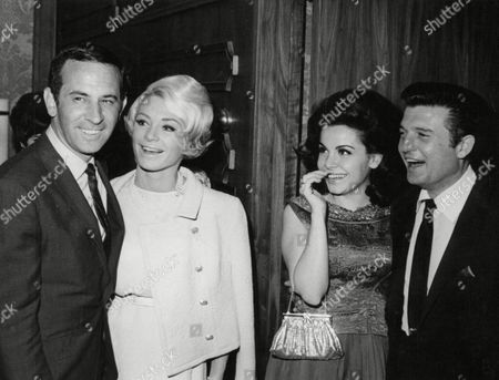 Editorial image of L-r: American Comedian Don Adams With His Wife Actress Annette Funicello And Husband Jack Gilardi A Casting Director. Box 677 405041648 A.jpg.