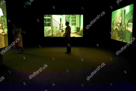 The Visitors, 2012 Nine-channel video installation