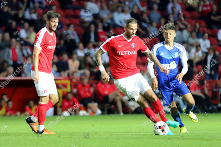 Roger Johnson of Charlton Athletic in action during Charlton Athletic vs Ipswich Town, Friendly Match Football at The Valley on 26th July 2016