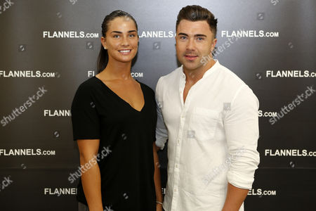 Kate Thorne and James Tindale, from Geordie Shore, at the VIP opening party of Flannels at the Intu Metrocentre in Gateshead, England. The fashion store is located in the Metrocentre's Platinum Mall.