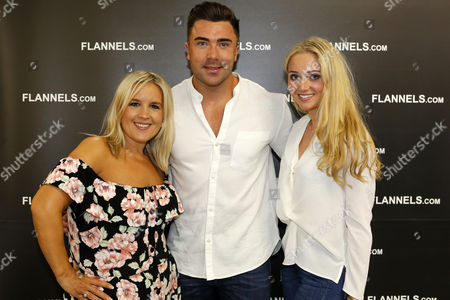Stock Photo of James Tindale, from Geordie Shore, at the VIP opening party of Flannels at the Intu Metrocentre in Gateshead, England. The fashion store is located in the Metrocentre's Platinum Mall.