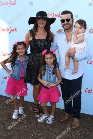 Stock Photo of Camila Moreno, Barbara Bermudo, M?a Andrea, Mario Moreno and Sof?a Andrea