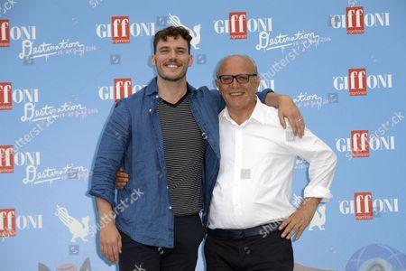 Sam Claflin with Claudio Gubitosi Director of Film Festival