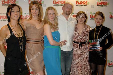 Alex Reid, Saskia Mulder, Shauna MacDonald, director Neil Marshall, Nora-Jane Noone, MyAnna Buring