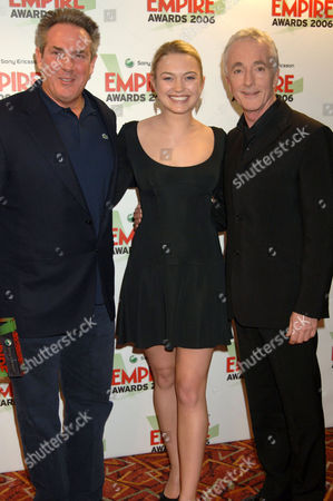 Rick McCallum, Sophia Myles and Anthony Daniels