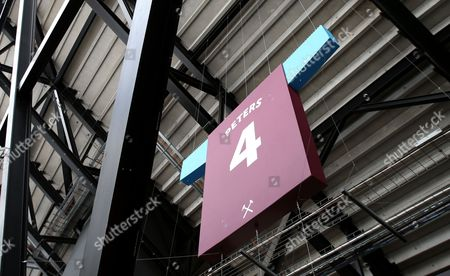General view of West Ham player Martin Peters signage inside the stadium ahead of Day 1 of the Muller Anniversary Games at The Stadium, Queen Elizabeth Olympic Park, London on July 22nd 2016