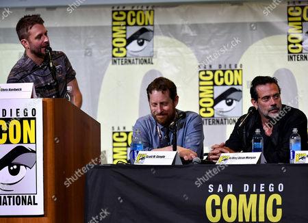Chris Hardwick, Scott M. Gimple and Jeffrey Dean Morgan