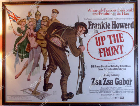An old film poster for 'Up The Front'