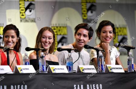 Stock Photo of Mercedes Masohn, Alycia Debnam Carey, Lorenzo James Henrie and Danay Garcia