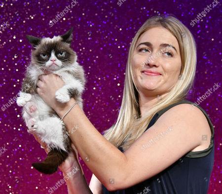 Stock Image of Grumpy Cat with Tabatha Bundesen