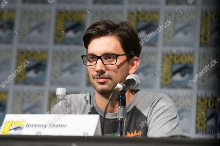 Actor Jeremy Slater speaks during a panel for the show The Exorcist