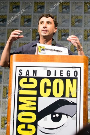 Sharknado Director Anthony Ferrante speaks during the panel on Friday.