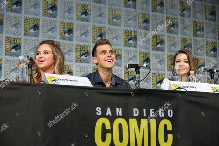 Sharknado actors Ryan Newman, Cody Linley, and Masiela Lusha attend the panel on Friday. Ryan Newman attends the panel on Friday.