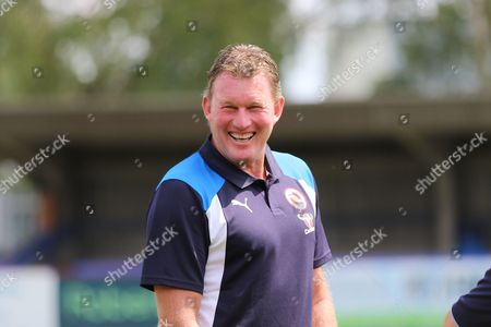 Dave Beasant former Wimbledon AFC Goalkeeper now coach at Reading FC prior the Pre-Season Friendly match between AFC Wimbledon and Reading at the Cherry Red Records Stadium, Kingston
