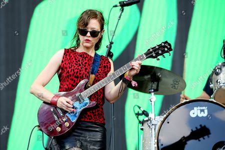 Mary Timony from Ex Hex performs on the main stage
