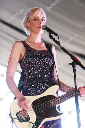 Kathi Wilcox of The Julie Ruin performs on the Parlor stage
