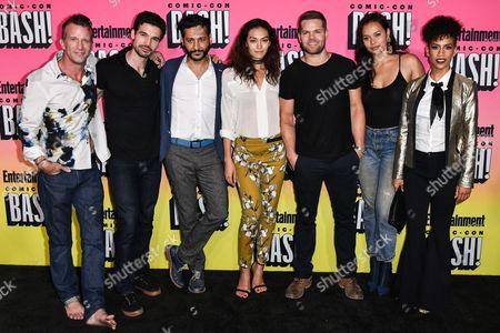 Cast of The Expanse, Thomas Jane, Steven Strait, Cas Anvar, Florence Faivre, Wes Chatham, Athena Karkanis and Dominique Tipper