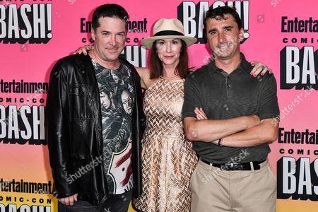 Steve Guttenberg, Caroline Williams and Anthony C. Ferrante