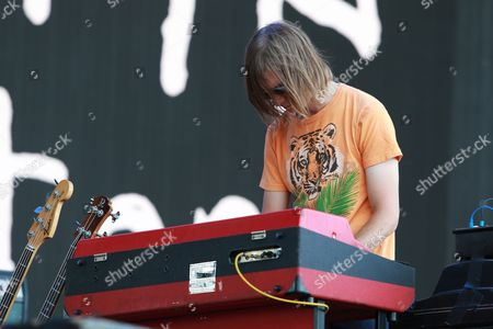 Rob Laakso of Kurt Vile and the Violators perform on the Main stage at the Panorama Music Festival