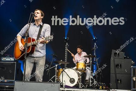 Editorial photo of The Bluetones in concert at Leeds Millennium Square, UK - 23 Jul 2016