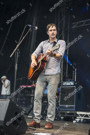 Editorial picture of The Bluetones in concert at Leeds Millennium Square, UK - 23 Jul 2016