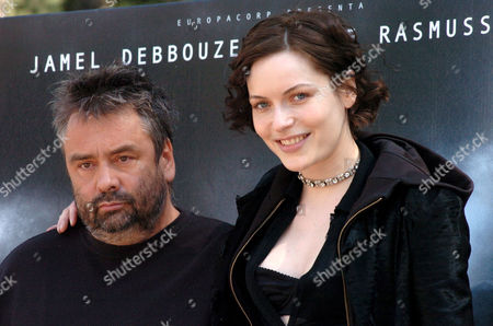 Director Luc Besson and Rie Rasmussen