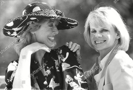 Stock Image of Actresses Maria Aitken (left) And Jill Bennett Who Are To Appear In A New Tv Series: Poor Little Rich Girls. Box 679 21504169 A.jpg.