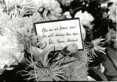 Stock Photo of Wreath From Actor Peter Adamson To His Wife Jean Who Has Died. Box 679 322004163 A.jpg.