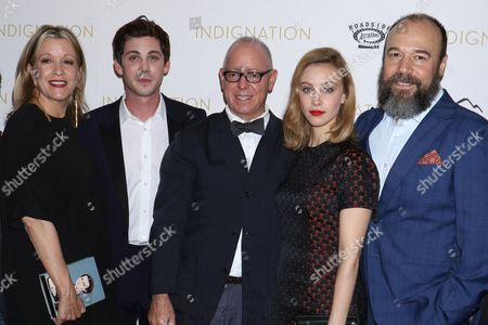 Linda Emond, Logan Lerman, James Schamus, Sarah Gadon and Danny Burstein
