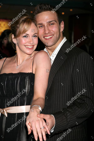 Stefan Booth and Debbie Flett showing off the engagement ring