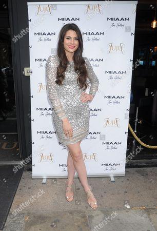 Editorial picture of Zara Holland x Miiaan Fashion event, London, UK - 26 Jul 2016