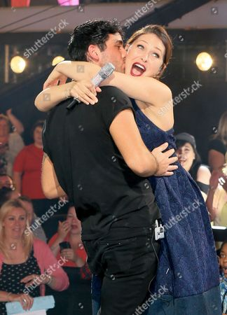 Stock Image of Hughie Maughan and Emma Willis