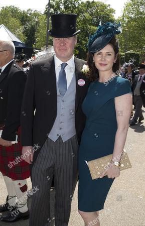 Earl Spencer And His New Wife Karen Gordon Enjoying The Third Day Of Royal Ascot.