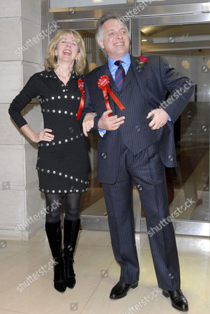 Marsha Fitzalan and Rik Mayall. Mayall is reprising his role as 'Alan B'Stard'. The show will open at the Theatre Royal Brighton.