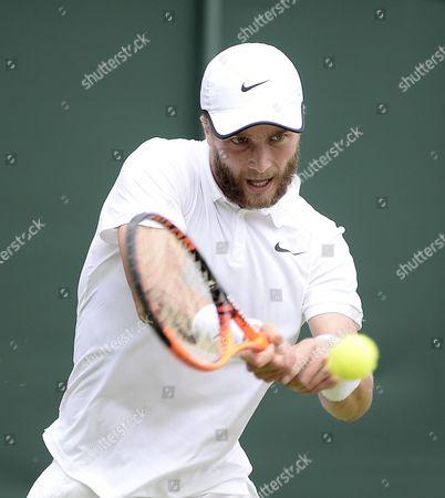 Editorial photo of Wimbledon Tennis Championship 2015 - Day 01: Liam Broady V Marinko Matosevic. Pic Shows:- Liam Broady.