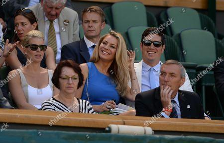 Wimbledon 2015 Tennis Championships Wimbledon London - Day 2 Kiki Bertens And Petra Kvitova Tess Daley In The Royal Box Centre Court.