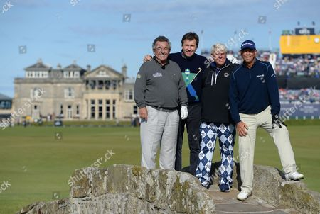 Golf - The Open 2015 - St Andrews - Nick Faldo John Daly Tom Lehman And Tony Jacklin At The Open At St Andrews Picture By Andy Hooper /daily Mail.
