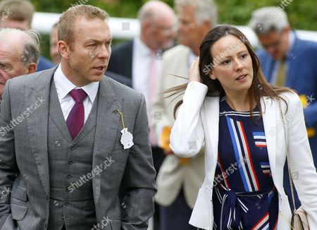 Chris Hoy with Sarra Kemp Goodwood
