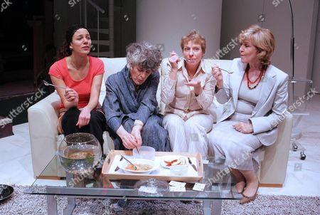 'The Clean House' - Rebecca Santos (Matilde), Eleanor Bron (Ana), Selina Cadell (Virginia), Patricia Hodge (Lane)