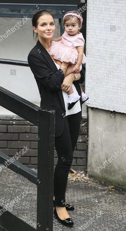 Helen Flanagan and daughter Matilda Sinclair