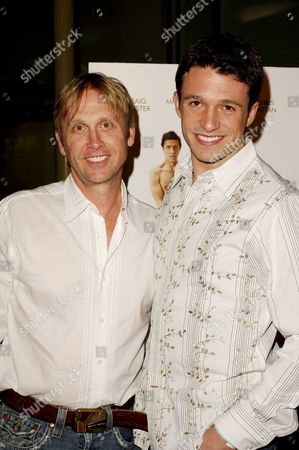 Stock Photo of Del Shores and Jason Dottley