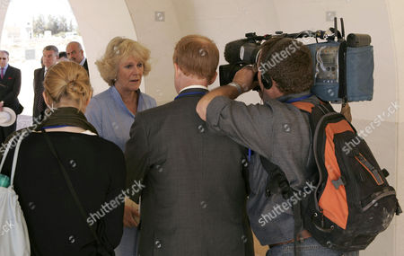 Camilla, Duchess of Cornwall and Nicholas Witchell