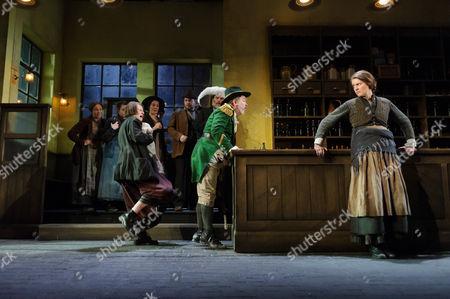 Josie Walker (Mrs Gogan), Lloyd Hutchinson (Peter Flynn), Justine Mitchell (Bessie Burgess)