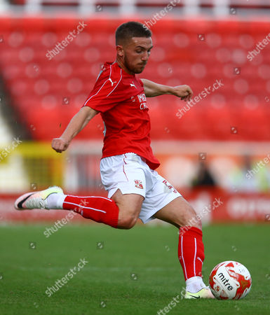 Anton Rodgers of Swindon Town during the pre season friendly match between Swindon Town and Swansea City played at the County Ground, Swindon on July 27th 2016