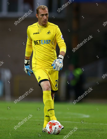 Gerhard Tremmel of Swansea City during the pre season friendly match between Swindon Town and Swansea City played at the County Ground, Swindon on July 27th 2016