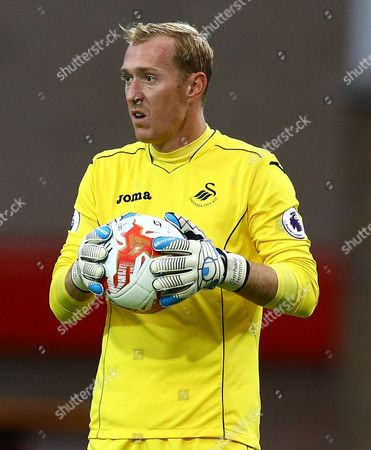 Stock Picture of Gerhard Tremmel of Swansea City during the pre season friendly match between Swindon Town and Swansea City played at the County Ground, Swindon on July 27th 2016