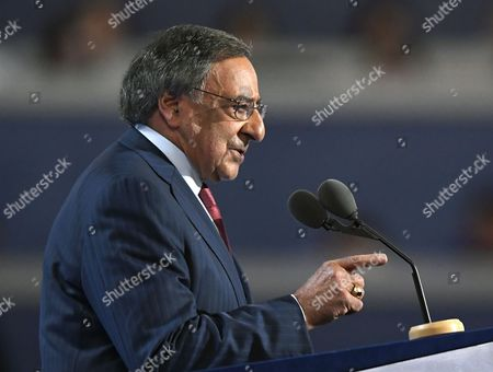 Former Defense Secretary Leon Panetta, speaks during the third day of the Democratic National Convention in Philadelphia
